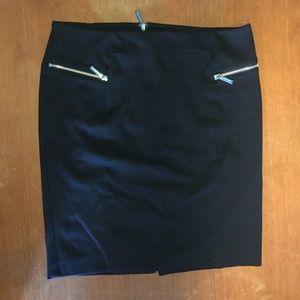 Michael Kors Black Zippered Skirt